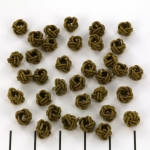 Chinese knot round - olive green