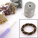 DIY kit bracelet crochet with 6/0 - oriental picasso