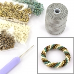 DIY kit bracelet crochet with 6/0 - ocean picasso