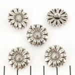 button flower daisy - silver