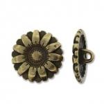 bloem knoop - antiek brass