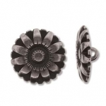 bloem knoop - antiek zilver