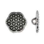flower of live button - antique silver