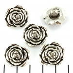 button rose - silver