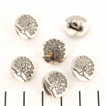 button tree of life 14 mm - silver