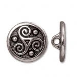 triskelee button - antique silver
