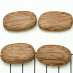 coconut flat oval striped - 26 mm