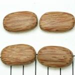 kokos plat ovaal gestreept - 26 mm