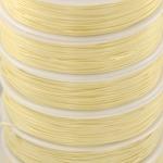 shiny nylon cord - cream