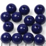 kunststof rond 14 mm opaque - donkerblauw