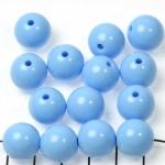 kunststof rond 14 mm opaque - blauw