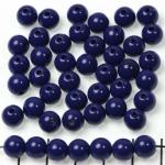 kunststof rond 8 mm opaque - donkerblauw