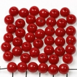 acrylic round 8 mm opaque - dark red