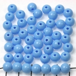 kunststof rond 8 mm opaque - blauw