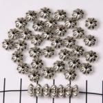 konisch gestreept bloem - zilver