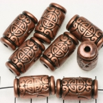oblong cylinder chinese embellished - bronze
