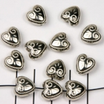 heart decorated - silver