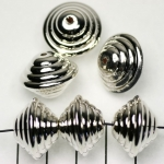conical striped - silver 14 mm