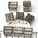 rectangle decorated 15 mm - silver