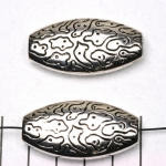 oval flat with motives - silver 40 mm