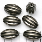 oval striped 24 mm - black