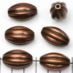 ovaal gestreept 24 mm - brons
