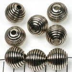 round striped 18 mm - silver