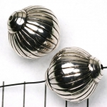 striped rondelle 27 mm - 27 mm silver