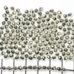 round faceted - 4 mm silver