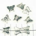 vlinder 13 mm - zilver