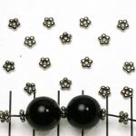 spacer 5 rondjes 5 mm - zilver