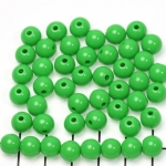 acrylic round 8 mm opaque - green