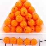 kunststof rond 14 mm opaque - oranje
