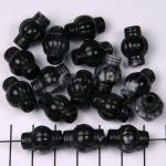 kunststof natuurstenen rond met cilinder uiteinden - zwart