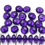 acrylic faceted rondelle 8 mm - purple