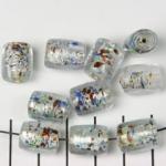 folie cilinder - zilver wit