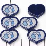 HappyDutch hart 20 mm - kussend boer en boerin