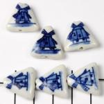 delfts blauw driehoek plat - molen