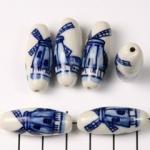 delfts blauw ovaal langwerpig - molen