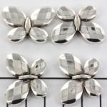 vlinder 22 mm - zilver