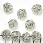 wire bead silver - 14 mm