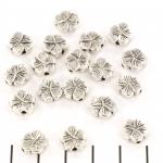 flat bead flower - silver
