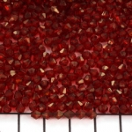 acrylic faceted conical 4 mm - red
