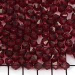 kunststof facet konisch 6 mm - aubergine roze paars
