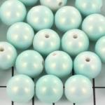 kunststof paarlemoer spray pearl 13 mm - babyblauw