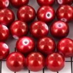 kunststof paarlemoer spray pearl 13 mm - rood