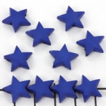 kunststof sterretje - opaque donkerblauw