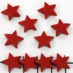 kunststof sterretje - opaque rood