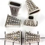 kralenkap versierd rechthoekig - zilver