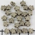 bloemetje 6 mm - zilver